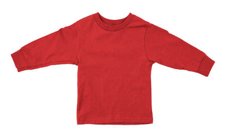 Jump straight into creating lovely pictures for your design, with this Front View Impressive Toddler Longsleeve T Shirt Mokup In Poppy Red Color. Stockfoto