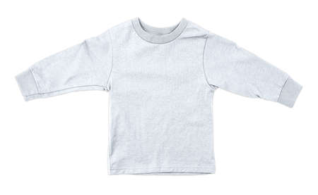 Jump straight into creating lovely pictures for your design, with this Front View Impressive Toddler Longsleeve T Shirt Mokup In Bright White Color. Stockfoto