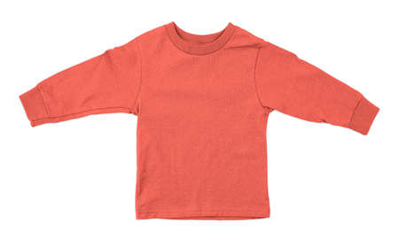 Jump straight into creating lovely pictures for your design, with this Front View Impressive Toddler Longsleeve T Shirt Mokup In Fusion Coral Color. Stockfoto