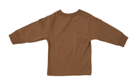 Just put your artwork on this Back View Impressive Toddler Longsleeve T Shirt Mokup In Brown Sugar Color, and your baby t shirt is ready for sale. Stockfoto