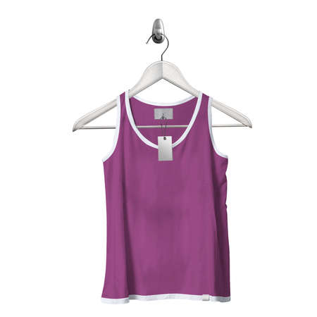 Use this Front View Classical Tank Top Mockup In Radiant Orchid Color With Hanger, to get more wonderful design products. Stockfoto