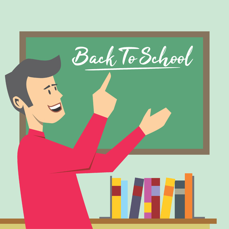 teacher says back to school Çizim