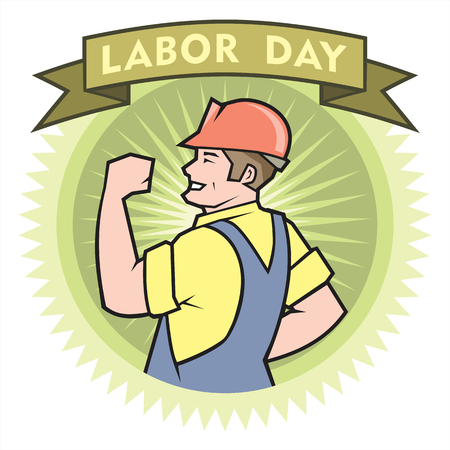 Labor Day poster Illustration