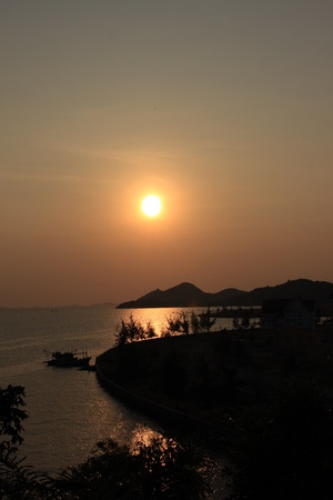 ha: Sunset in Ha Tien Province, Viet Nam