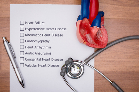 Doctor are diagnosing the disease in patients heart. Stock Photo