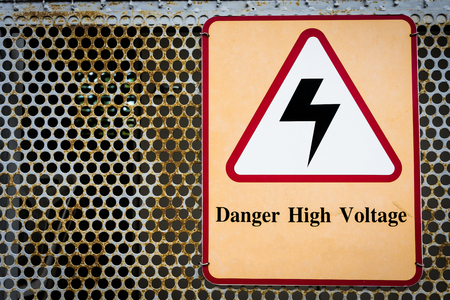 High voltage warning sign, Please do not get close because of the potentially dangerous.