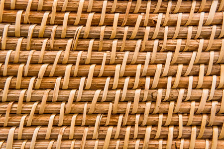 Close-up of a basket made of wood, basket weave.