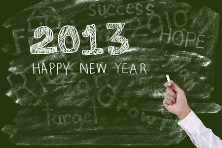 Hand drawing Happy New Year 2013 photo