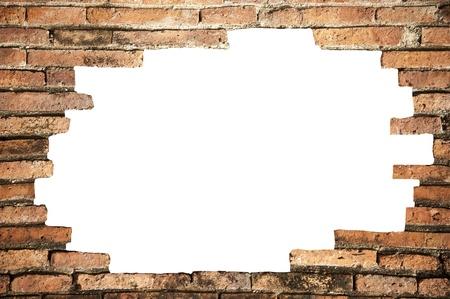 hole: Hole in the brickwall, Textur Hintergrund.