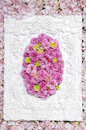 Pink floral in the luxury frame