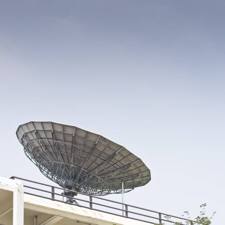 Parabolic satellite dish space technology receiver Stock Photo - 13272699
