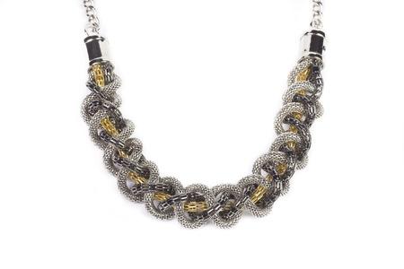 Luxury necklace, studio shot, isolated on white background Stock Photo