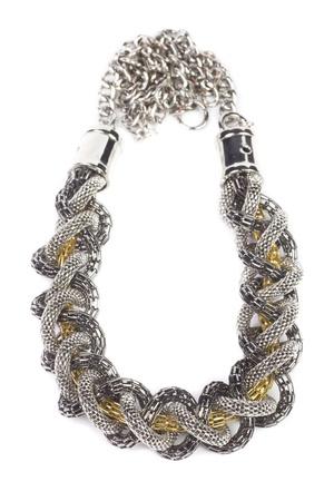 Luxury necklace, studio shot, isolated on white background photo