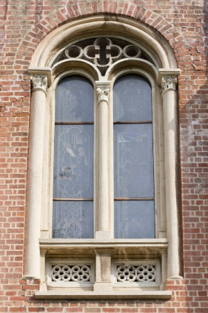 Big vintage window at church photo