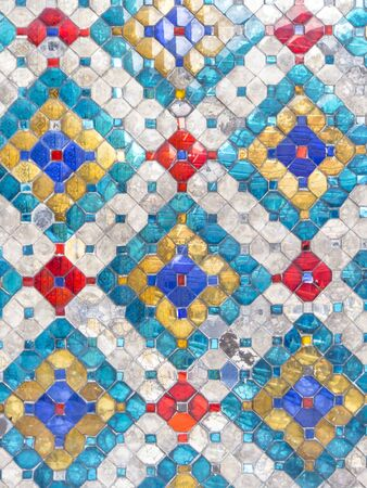 Old colorful tile background photo