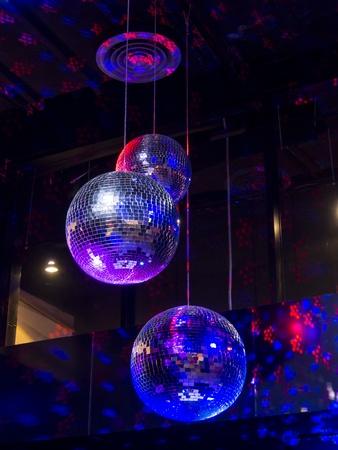 Disco ball light reflection