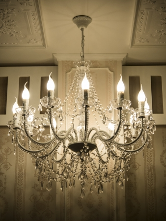 Crystal chandelier Stock Photo