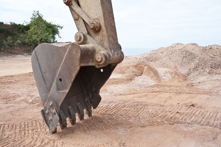 bulldoze: Part of tractor