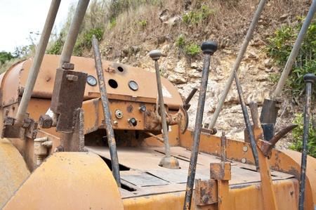 bulldoze: Controller of machine Stock Photo