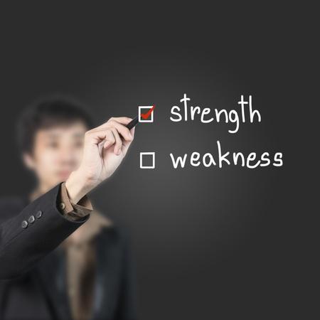 Businessman choose strength as a choice