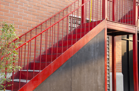 Red stair photo