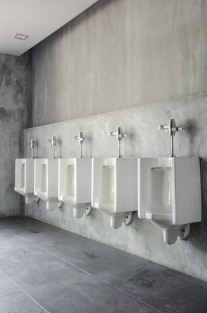 White urinals in men photo