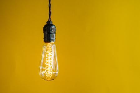 Lighting Decor on Yellow Background photo