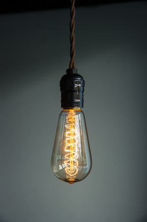 glowing light bulb: Lighting Decor Stock Photo
