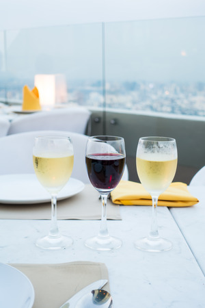 twined: Glass of wine restaurant exterior serving dinner