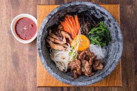 Hot stone bibimbap, Korean traditional, Korean food