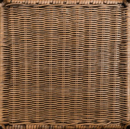 rectangle frame: rattan weave in rectangle frame Stock Photo