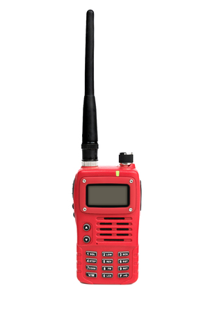 two way: two way radio walkie talkie isolated