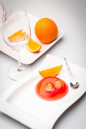 gelatin: Salacca Jelly with Orange