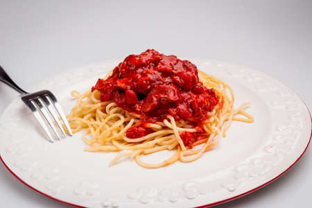peper: Spaghetti Bolognese with Sweet Peper