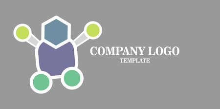 Simple Media Business Logo vector icon. illustration for robot network