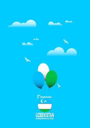 Independence Day Uzbekistan flag background. Vector Illustration EPS 10. Illustration