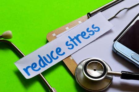 Reduce stress on healthcare concept inspiration with green background Reklamní fotografie