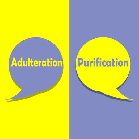 Adulteration or Purification on word on education, inspiration and business motivation concepts. Vector illustration. EPS 10 Illustration