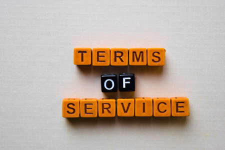 Terms of Service on wooden blocks. Business and inspiration concept Banque d'images - 123157332