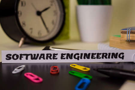 Software Engineering on the paper isolated on it desk. Business and inspiration concept Stock fotó - 124458530