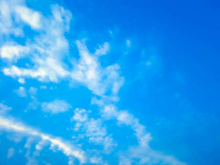 Beautiful white clouds on blue sky with tiny clouds