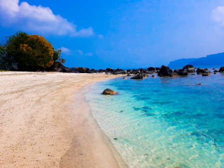 Beautiful landscape in the Indonesia, Lampung Ocean Coastline Stok Fotoğraf