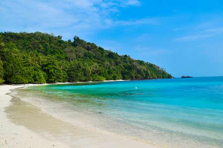 Beautiful landscape in the Indonesia, Lampung Ocean Coastline Stok Fotoğraf