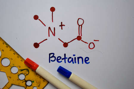 Betaine molecule write on the white board. Structural chemical formula. Education concept Stock fotó