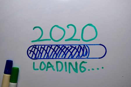 2020 Loading write on white board background