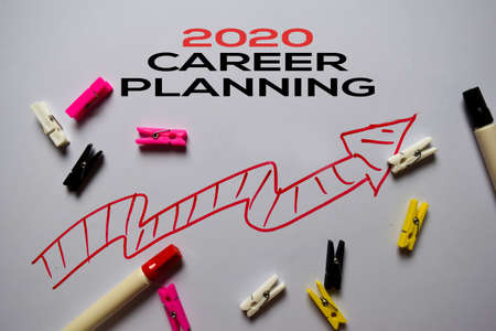 2020 Career Planning write on white board background
