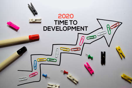 2020 Time To Development write on white board background Stockfoto