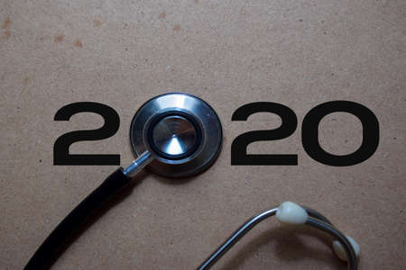 2020 Happy New Year with Stethoscope concept.