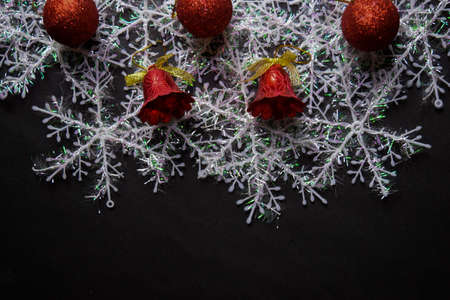 Decorative Christmas isolated on black background