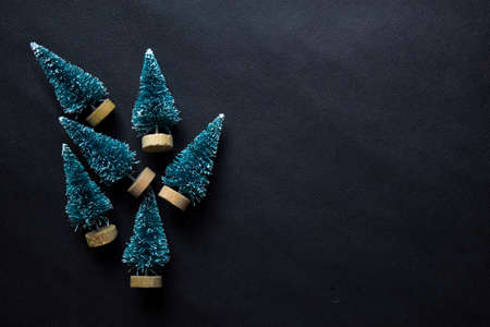 Decorative Christmas tree isolated on black background Stockfoto